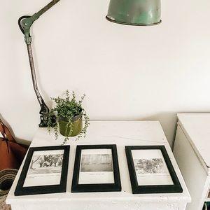Set of 3 black and white prints
